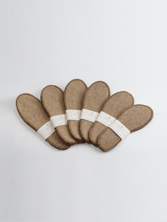 Schuheinlagen Paar, aus unserer Alpakawolle, verschiedene Größen